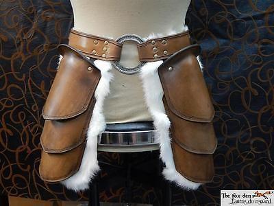 Quality leather tasset with massive 3'' celtic ring. Full celtic version! Viking