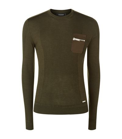 DSQUARED2 Utility Ribbed Jumper. #dsquared2 #cloth #