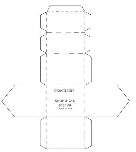 Beach Hut Box Template Altered Book Art Box Template Applique Pattern