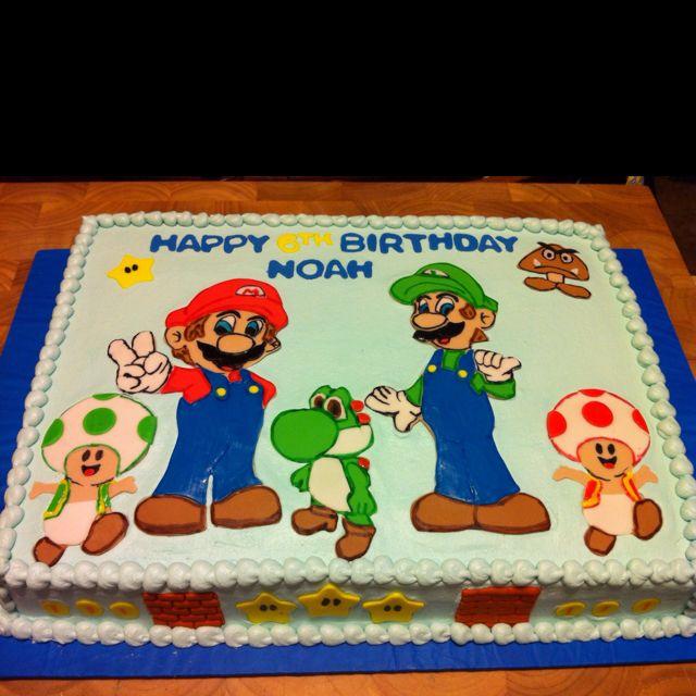 Super Mario Bros Cake Birthday Cakes Pinterest Mario ...