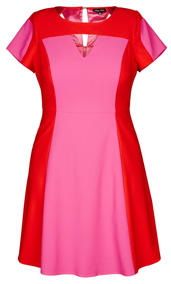 City Chic - SUPER POP DRESS - Women\'s Plus Size Fashion | Definitely ...