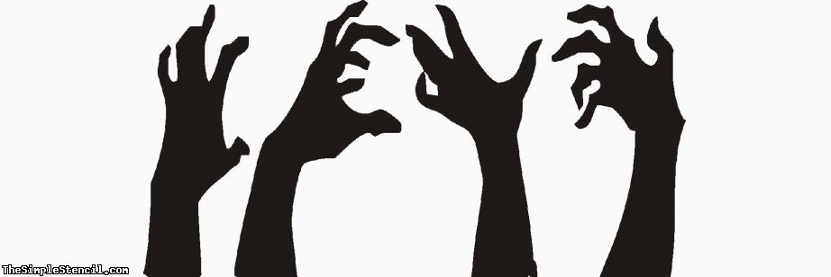 Zombie Hands Zombie Hand Custom Vinyl Wall Art Vinyl Wall Art