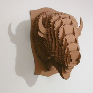 i see a cardboard bison in our future to celebrate our 2011 trip to yellowstone with the zoologist.