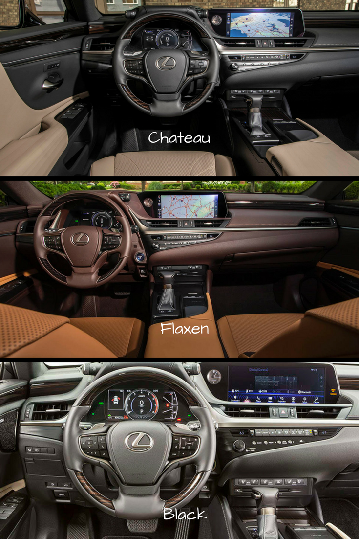 Check Out The 3 Interior Color Options For The 2019 Lexus Es Which Is Your Favorite Chateau Flaxen Or Black Lexus Lexus Es Lexus 350
