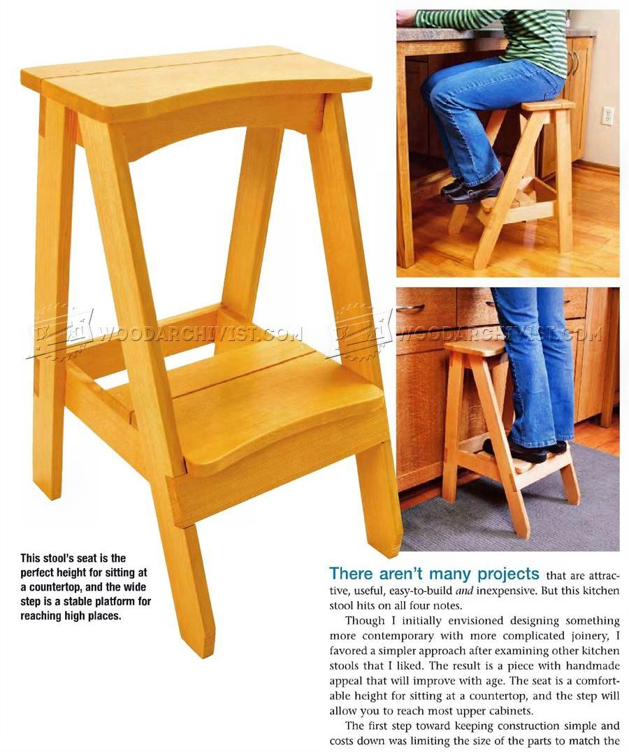 kitchen step stool plans furniture plans hand made tools