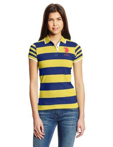 Juniors Solid Slub Short Sleeve Polo U.S Polo Assn