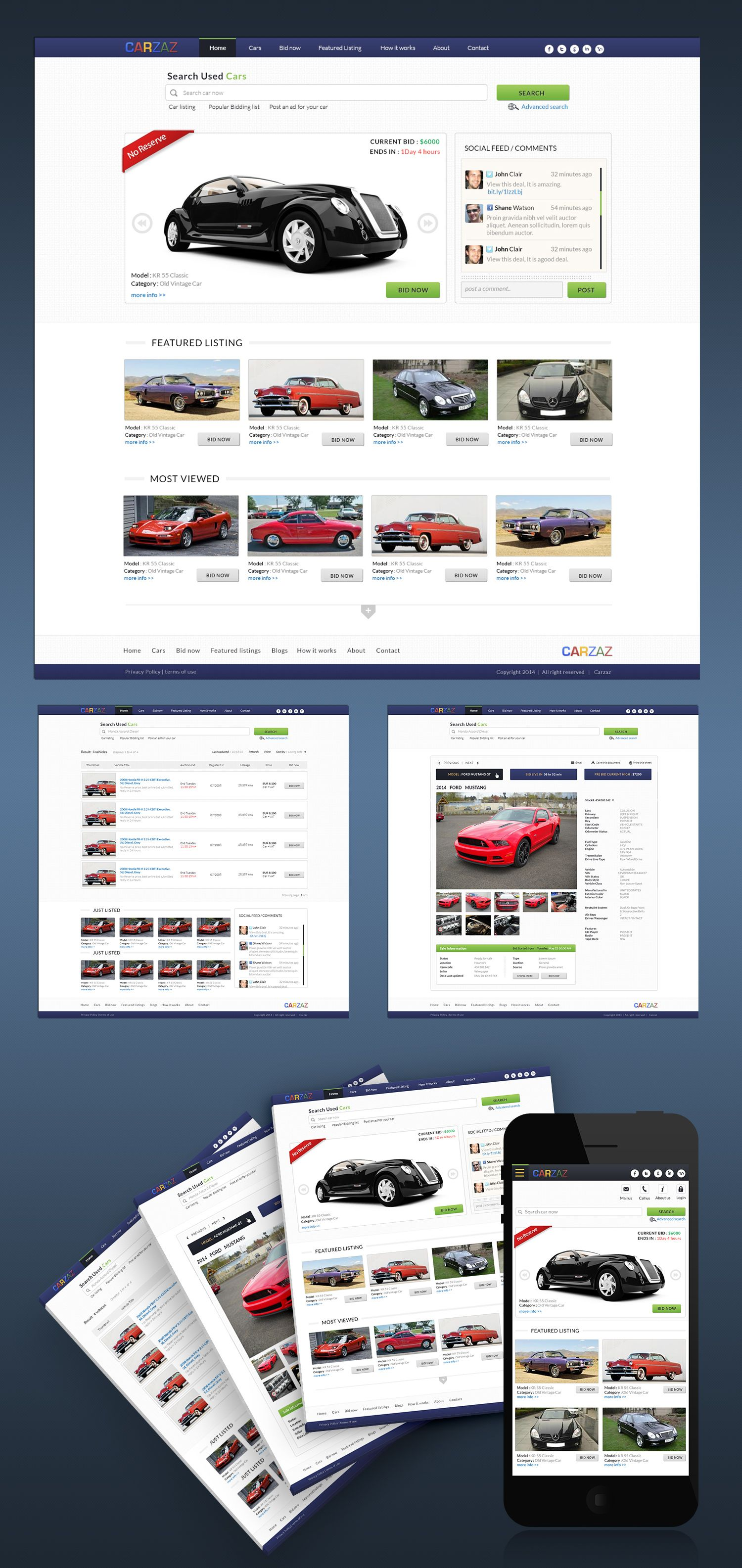 Web Design Car Auction