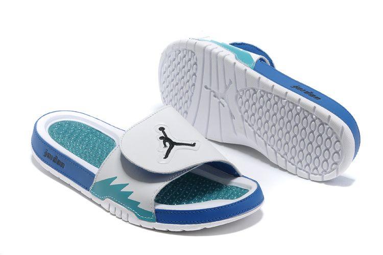 separation shoes 0aa6d 99330 Jordan Hydro 5 Mens White Chlorine Blue Black Jordan Sandals ...