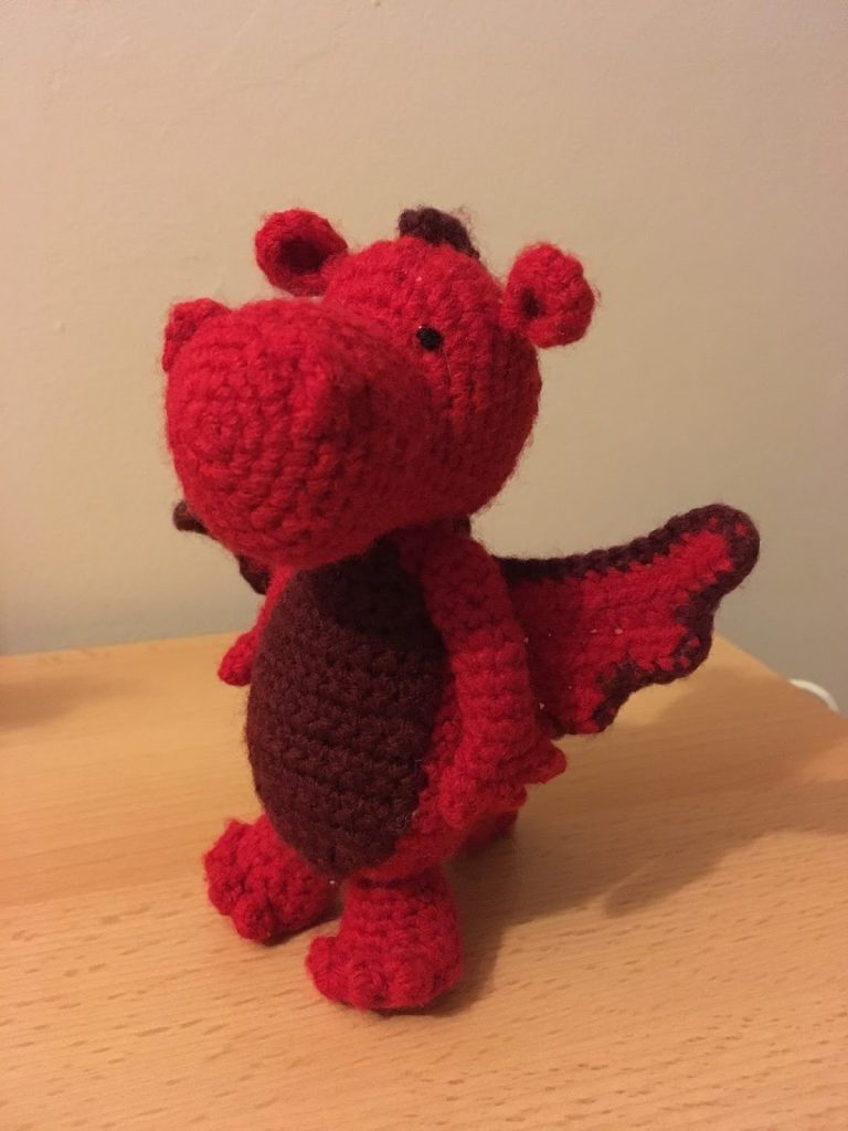 Wonderful crochet dragon, created by Amy\'s Crochet Cave and featured ...