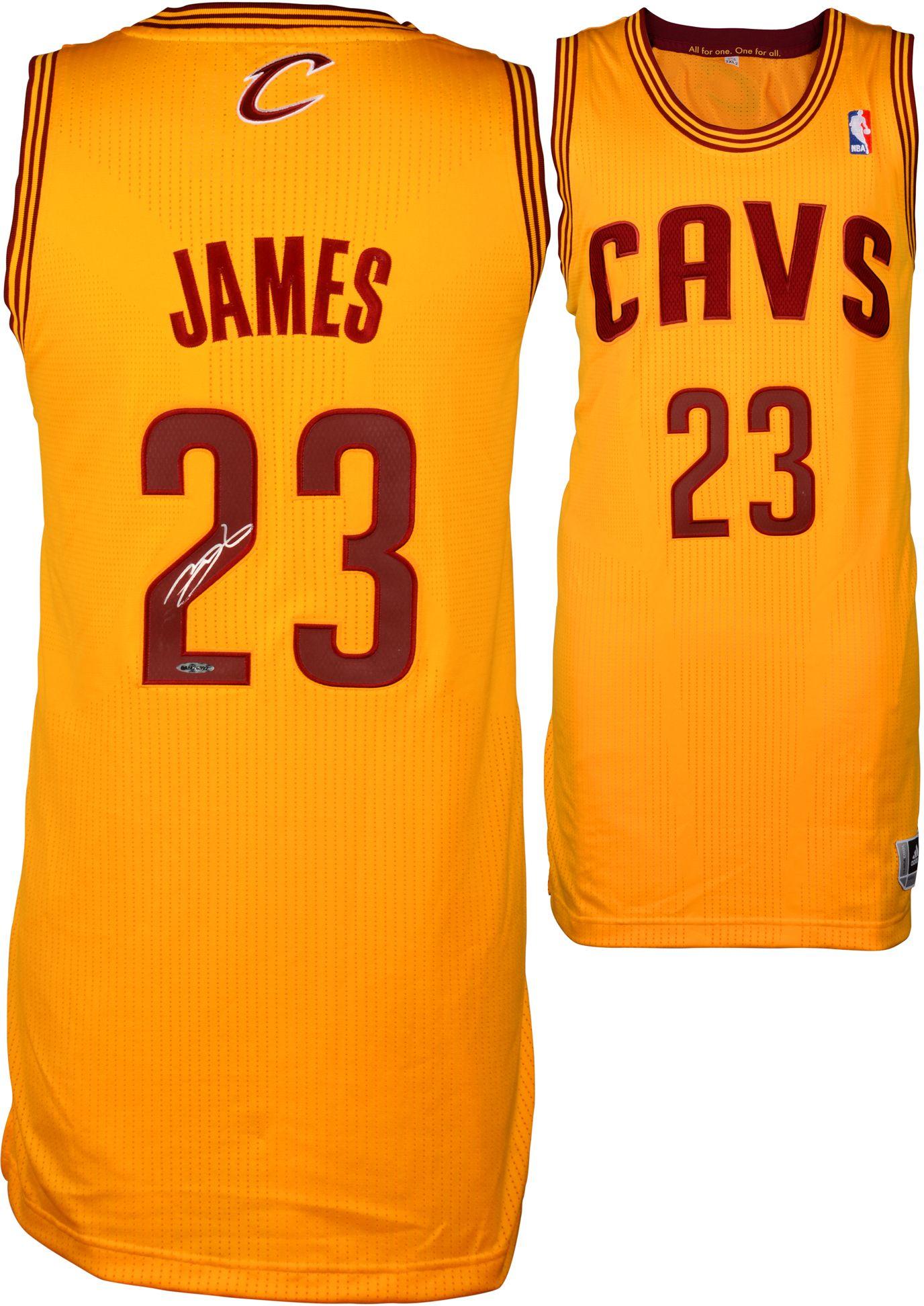 online store f177e 67d76 Autographed LeBron James Jersey - Alternate Gold UDA | Best ...