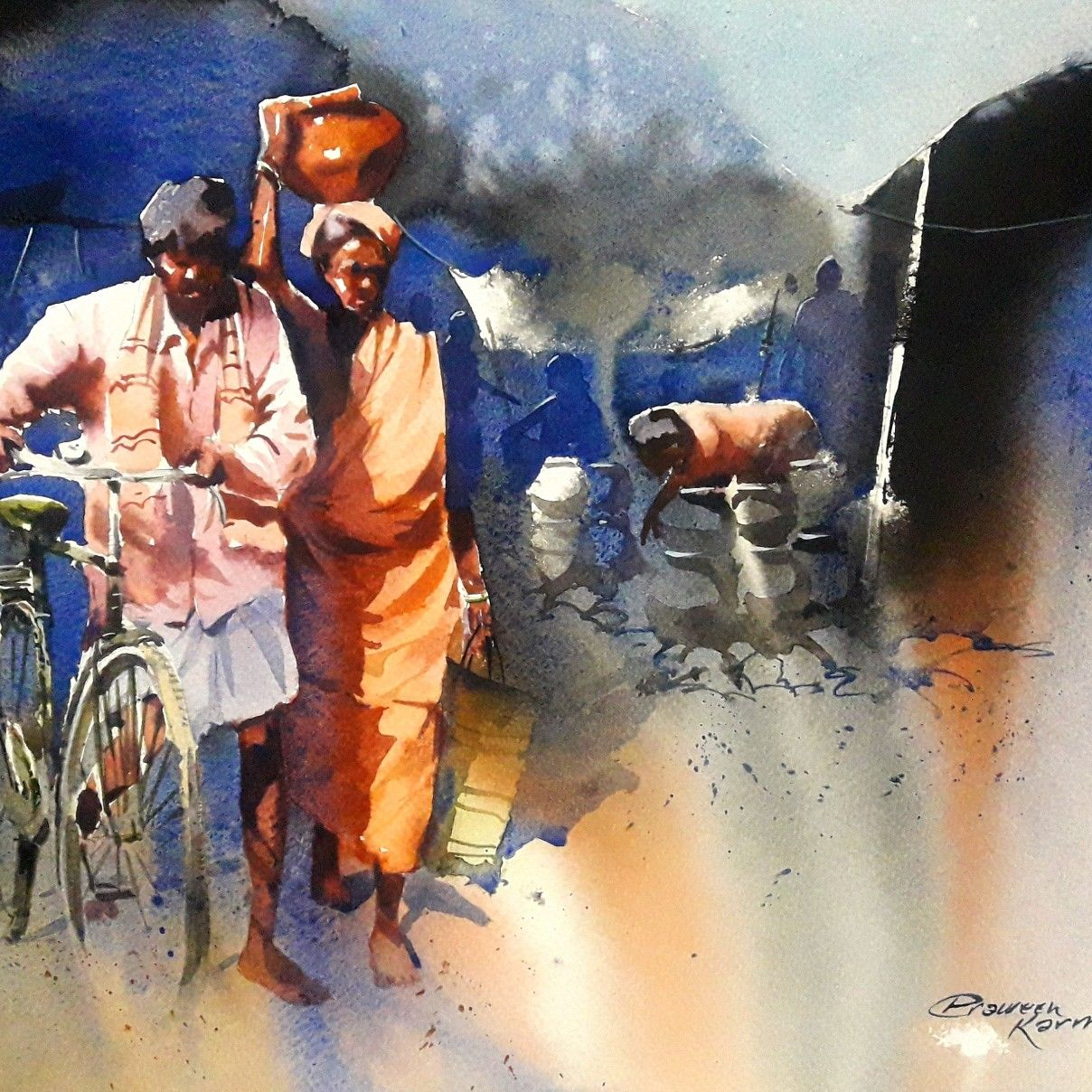 Idea By Praween Karmakar On Watercolour Figurative Indian