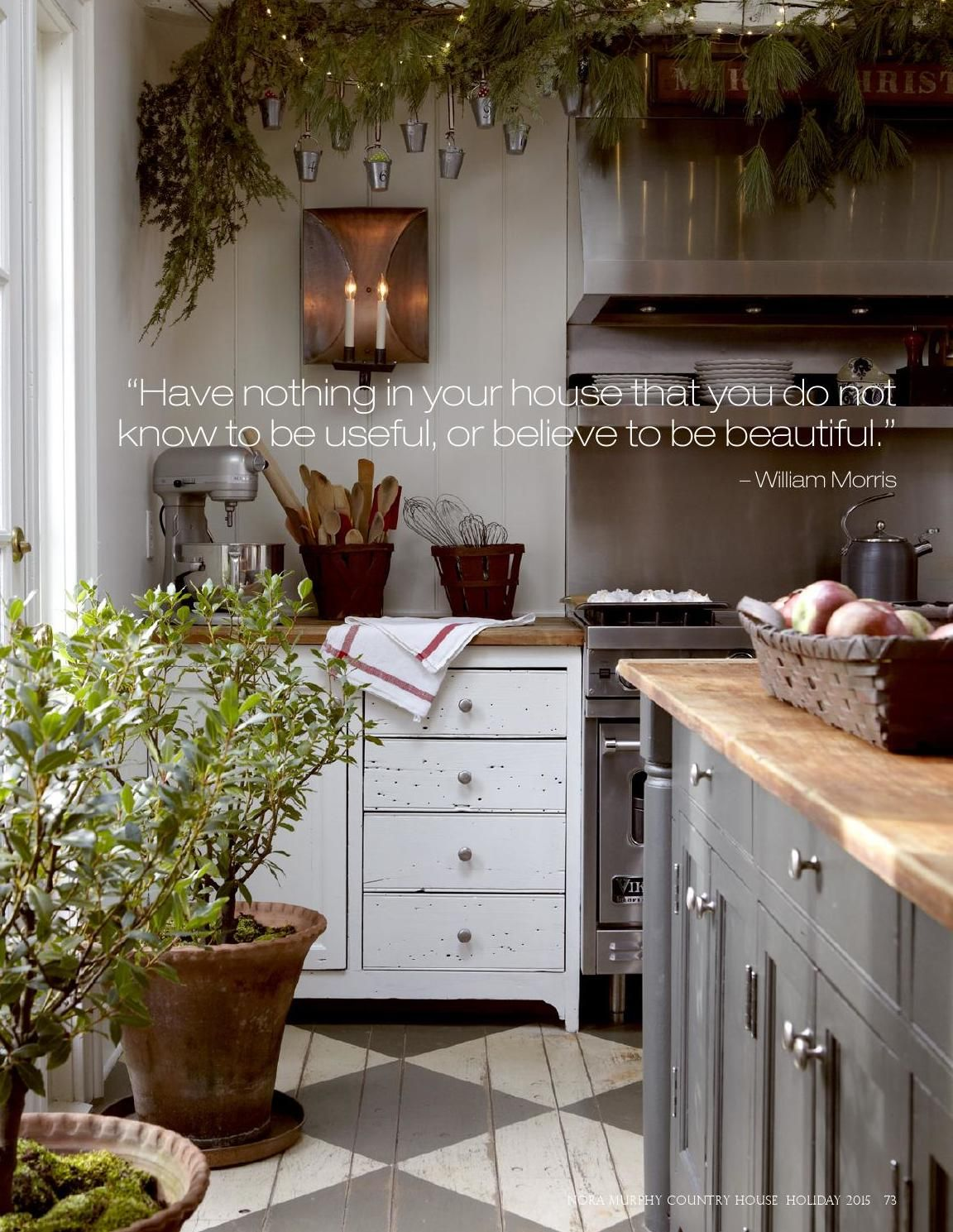Nora Murphy Country House Holiday 2015 Kitchen