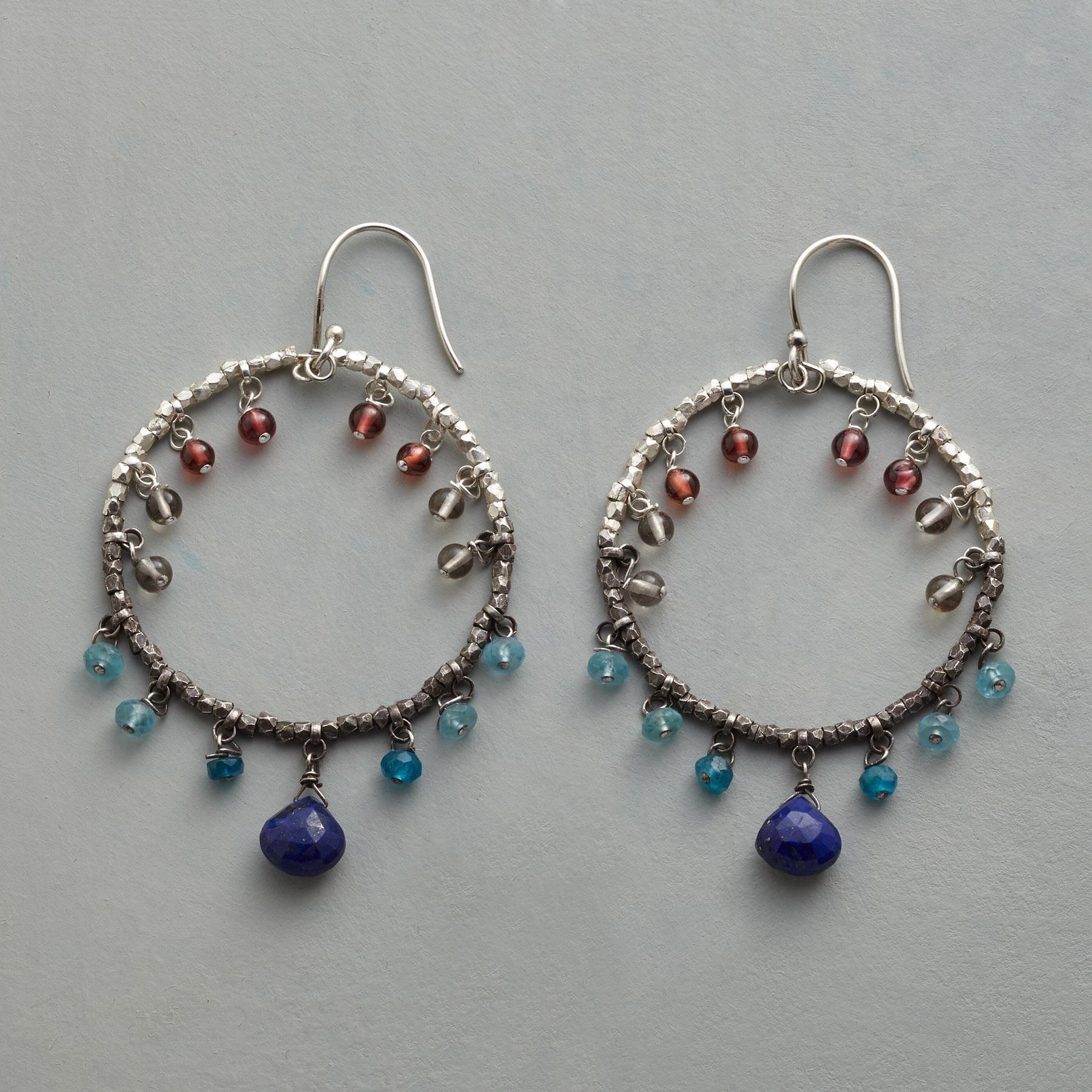Free Tutorial: Channel Set Garnet Rondelle Wire Wrap Hoop Earrings ...