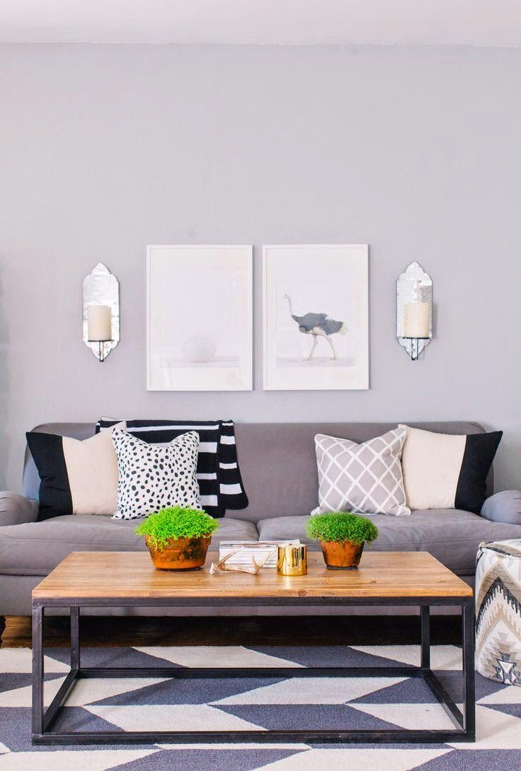 10 ideas para decorar con cuadros sobre el sof sobre el for Decoracion encima sofa