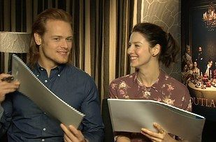 """Thank you for being so much fun, Sam and Caitriona! 