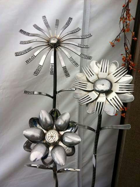 Fork And Spoon Flowers · Metal Garden ...