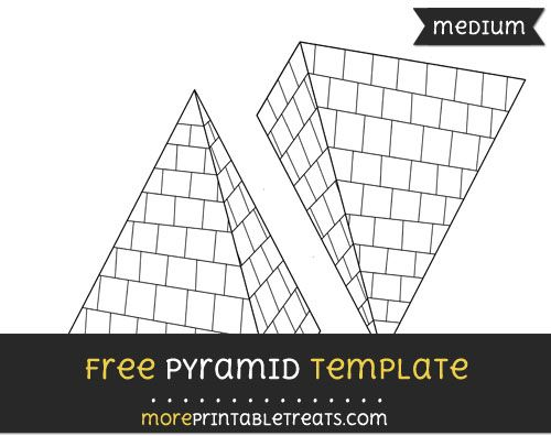 Free Pyramid Template - Medium Shapes and Templates Printables - pyramid template