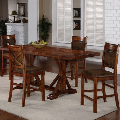Buy 5 Piece Counter Height Dining Set Dining Table In Kitchen Dining Table Dining Room Sets