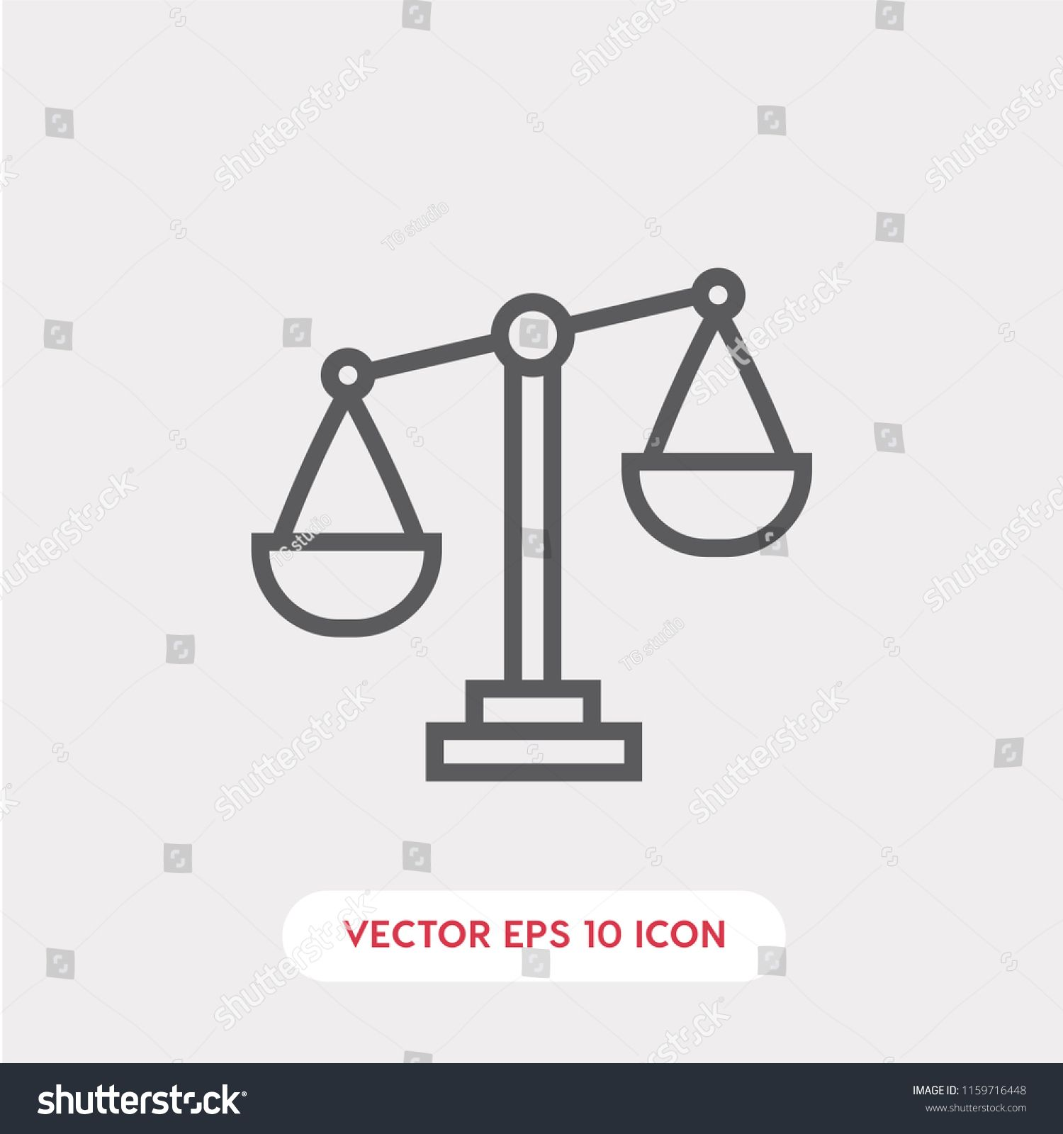 Law Vector Icon Justice Symbol Linear Style Sign For Mobile Concept And Web Design Law And Balance Symbol Logo Justice Symbol Vector Icons Logo Illustration