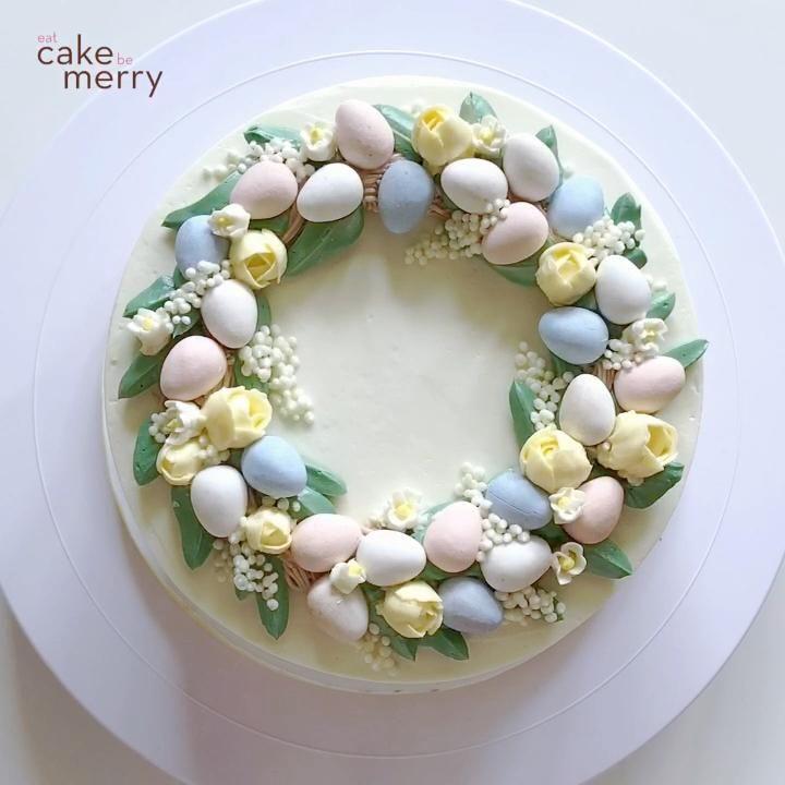Easter Egg Wreath Cake
