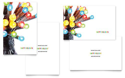 Christmas Lights Greeting Card Microsoft Office Template For Best Free Birthday C Christmas Card Template Free Greeting Card Templates Birthday Card Template