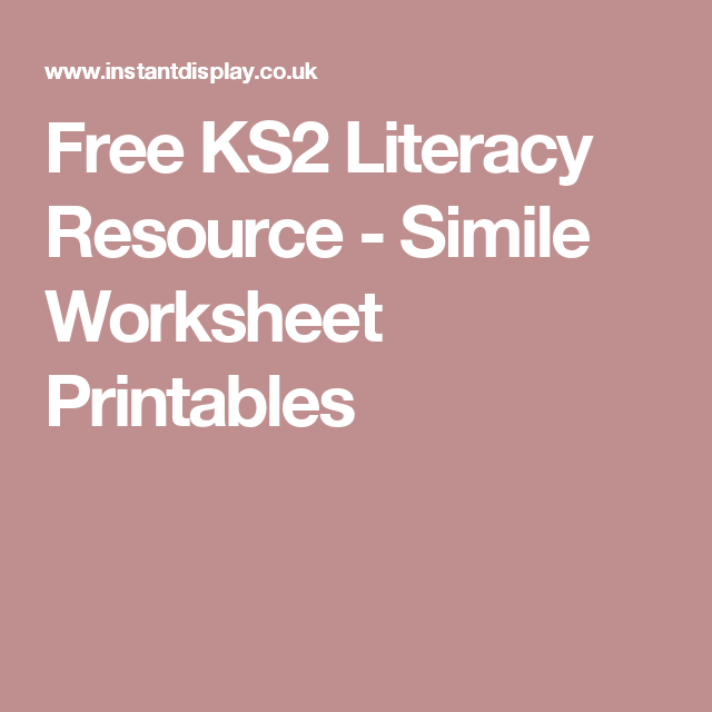Free KS2 Literacy Resource   Simile Worksheet Printables   similes together with Bus timetables together with Teaching Punctuation Worksheets further Worksheets for Kids   Free Printables   Education moreover Free printable 4th grade writing Worksheets  word lists and additionally English   Key Stage 2    prehension    prehension 4 furthermore Free Printable English Games Worksheets Learning – smartfone co in addition 1st grade  2nd grade  3rd grade Reading Worksheets  Glossary besides Free Worksheets Liry   Download and Print Worksheets   Free on also Reading  prehension Year 5 Year 6 by klbgreen   Teaching Resources likewise Worksheet Genius   free printable  randomized worksheets as well The 75 Skills Everyone Should Master Jokes Life and The o39jays furthermore Literacy Worksheets Ks2 Printable Free   101 Printables further  also Sports Centre Timetable Worksheet Free Printable Worksheets Reading furthermore FREE Reading  prehension Worksheets «. on ks2 literacy worksheets free printable