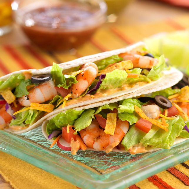 DOLE Salads - Southwest Grilled Shrimp Tacos Recipe - DOLE