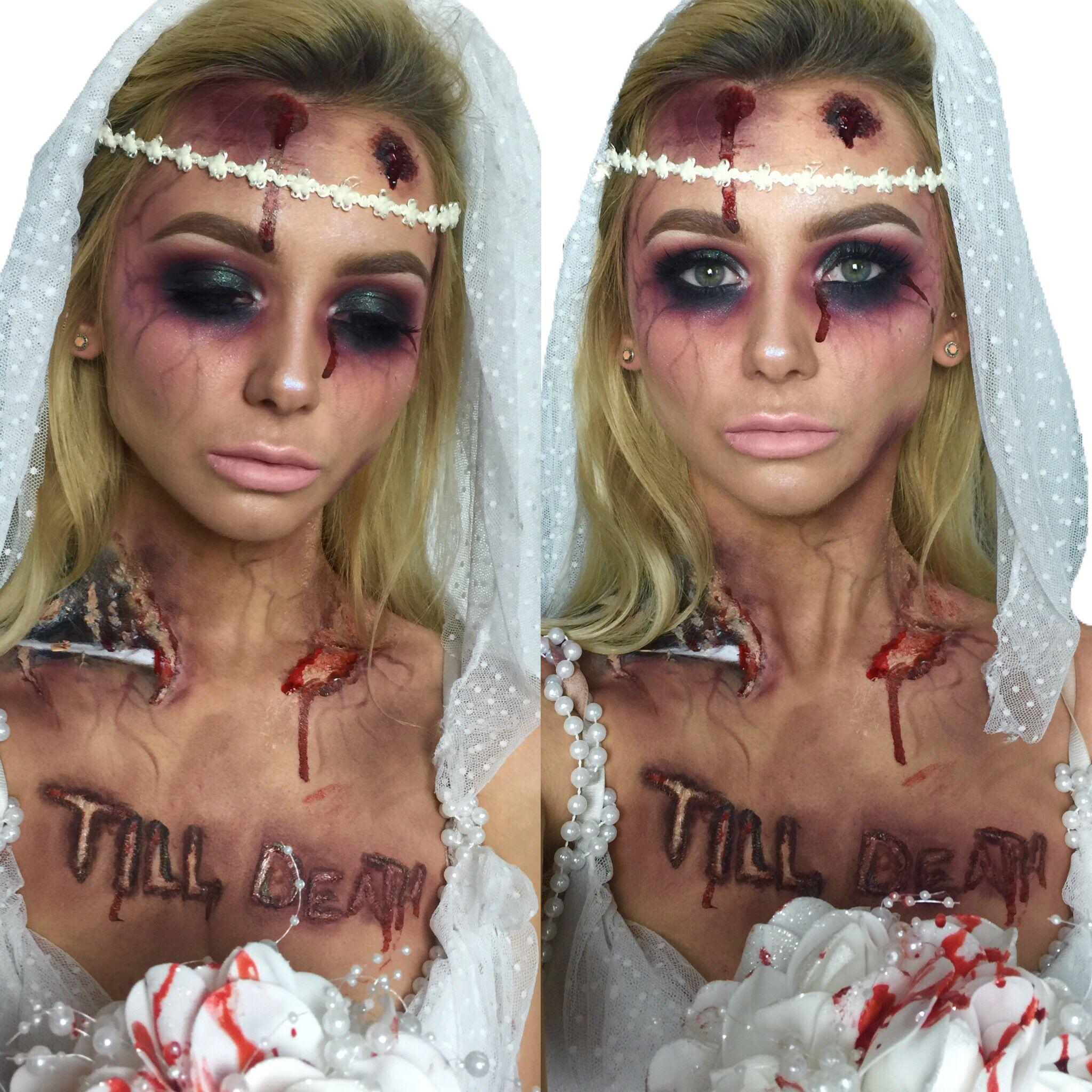 Zombie Bride Halloween Makeup Ideas | custome | Pinterest | Zombie ...