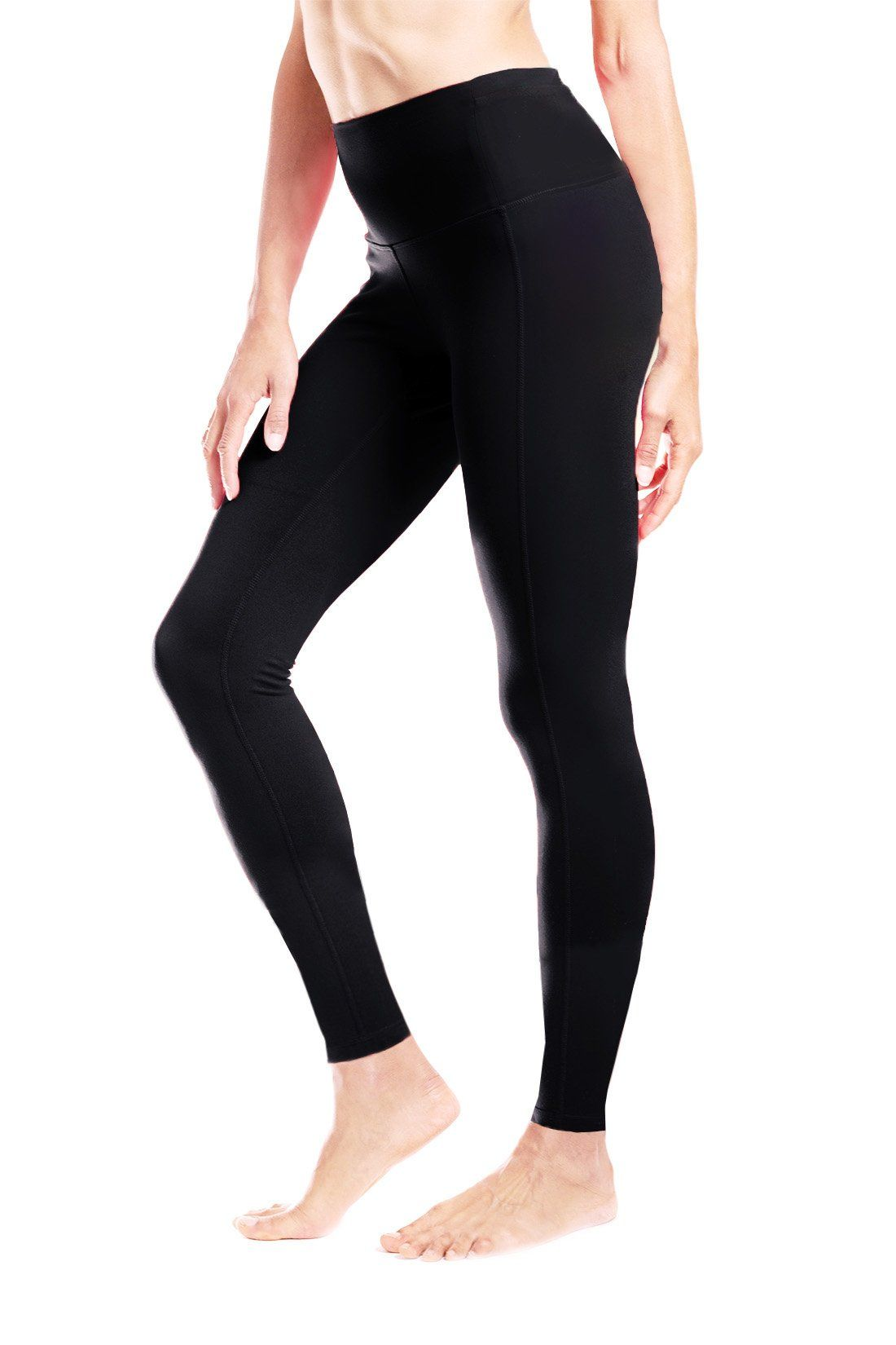 0a3f266529 Yogipace (Petite Length) Women's High Waisted Yoga Leggings Workout Gym  Active Pants Back Pocket