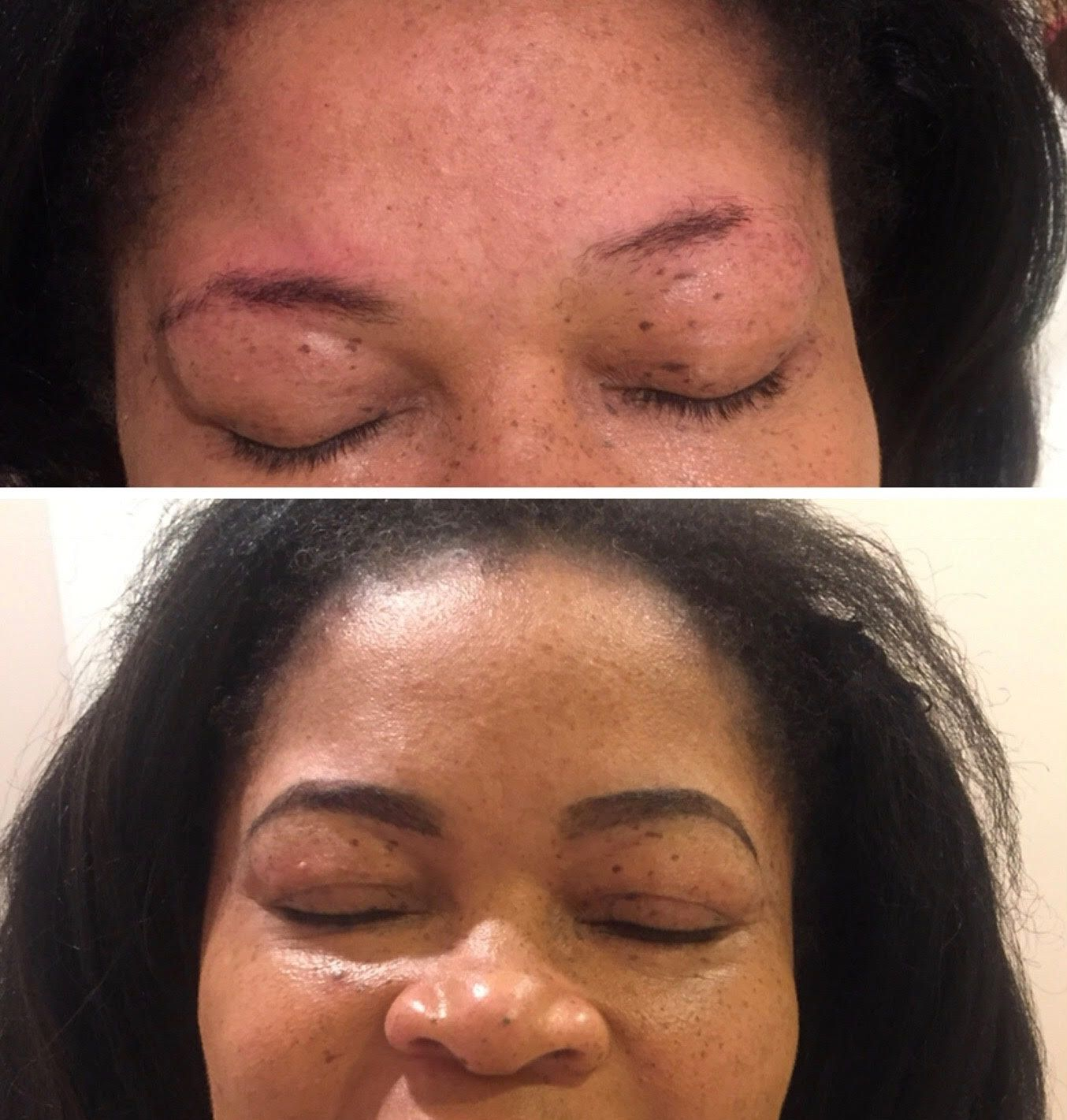 Big Eyebrow Transformation!!! Client was unhappy with her