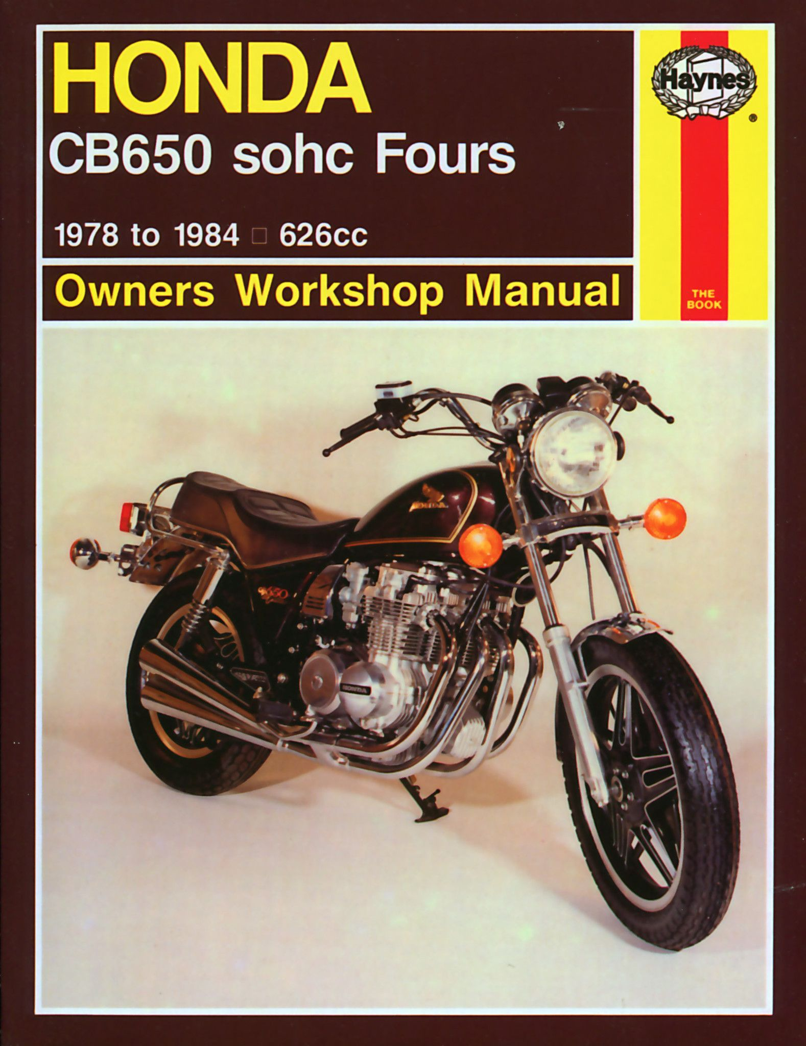 haynes m665 service repair manual for 1979 82 honda cb650 sohc rh pinterest com