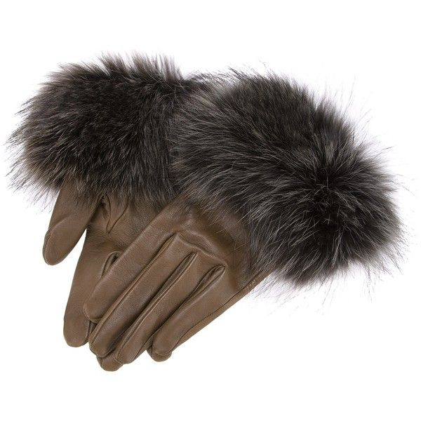 NINA RICCI fur trim gloves (€850) ❤ liked on Polyvore featuring accessories, gloves, real leather gloves, nina ricci, leather gloves, fur trimmed leather gloves and fur trimmed gloves