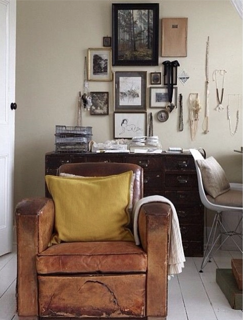 Cosy leather chair   home vibes   Pinterest   Cosy, Interiors and Spaces