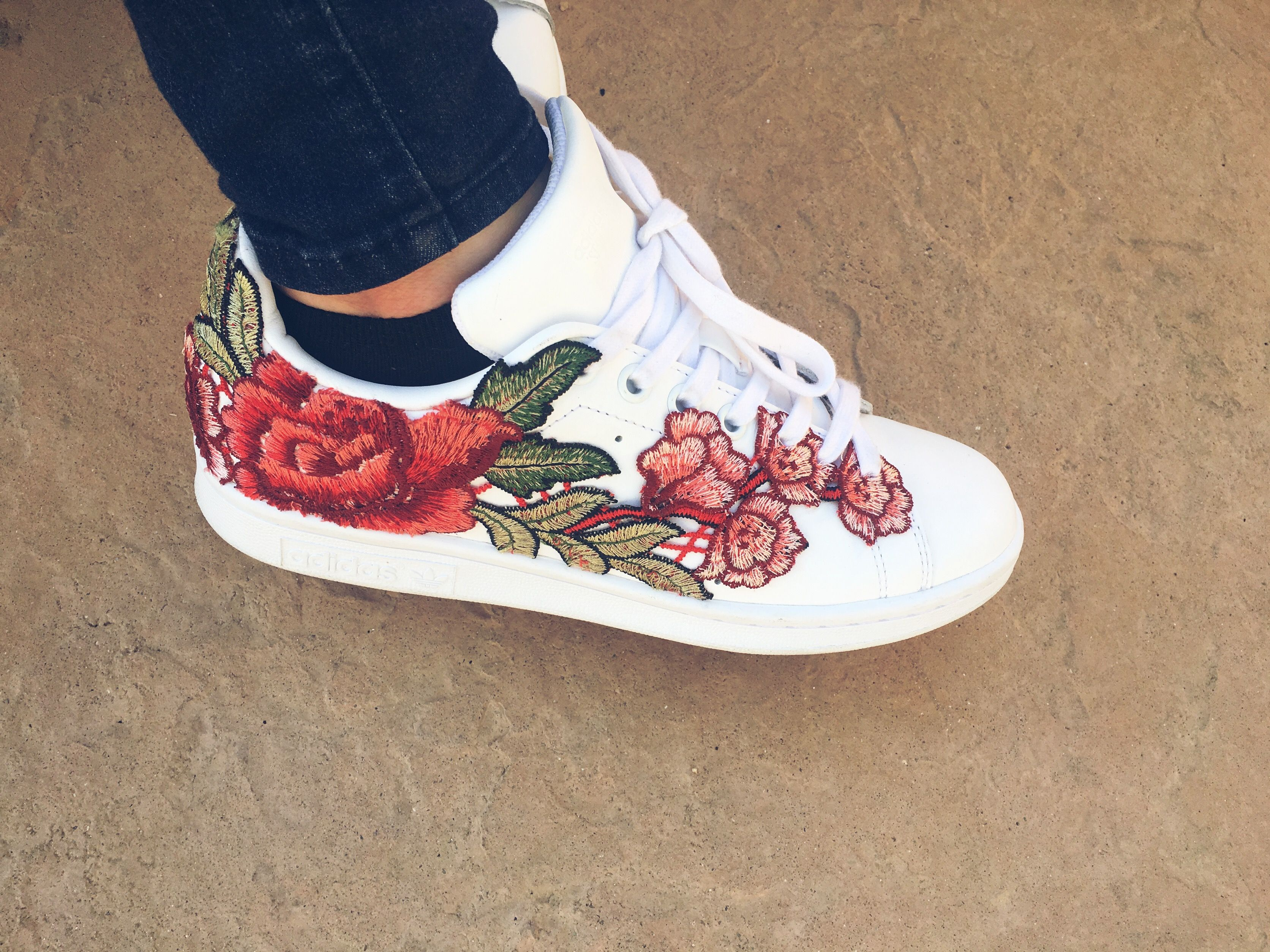 Rose embroidered adidas❣ purchase on Etsy @RebCOShop