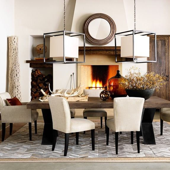 Navarro extendable dining table and chairs by williams sonoma