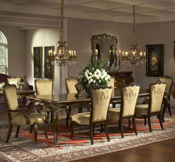 12 Piece Dining Room Set: Imperial Court 12 Piece Dining Room Set