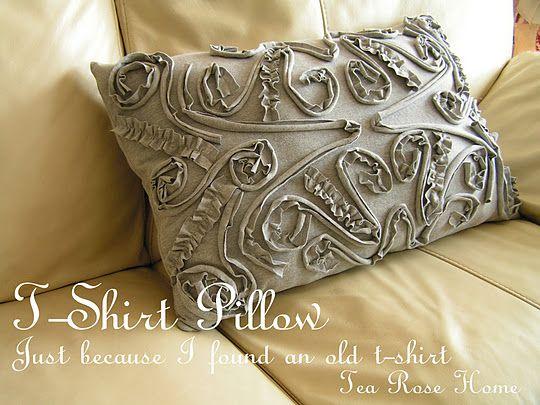 diy tutorial for this darling t shirt pillow from tea rose home blog rh pinterest com India Rose Estee Lauder
