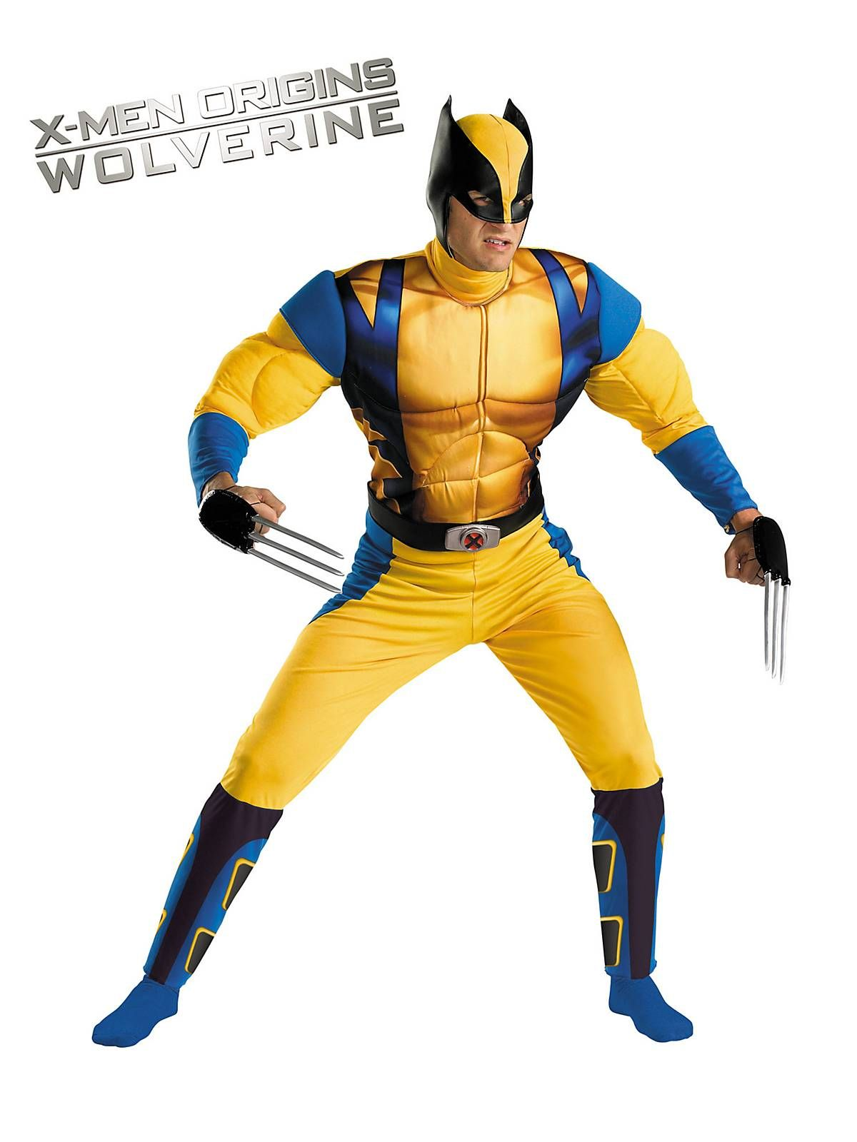 Adult Wolverine Classic Muscle Costume Marvel costumes