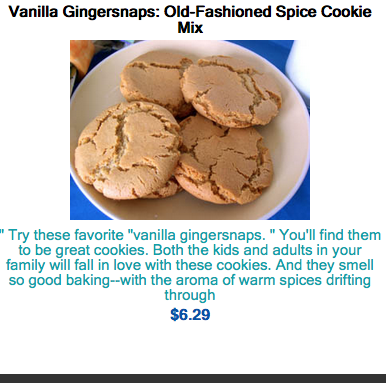 Vanilla Gingersnaps ,who knew but oh boy good .