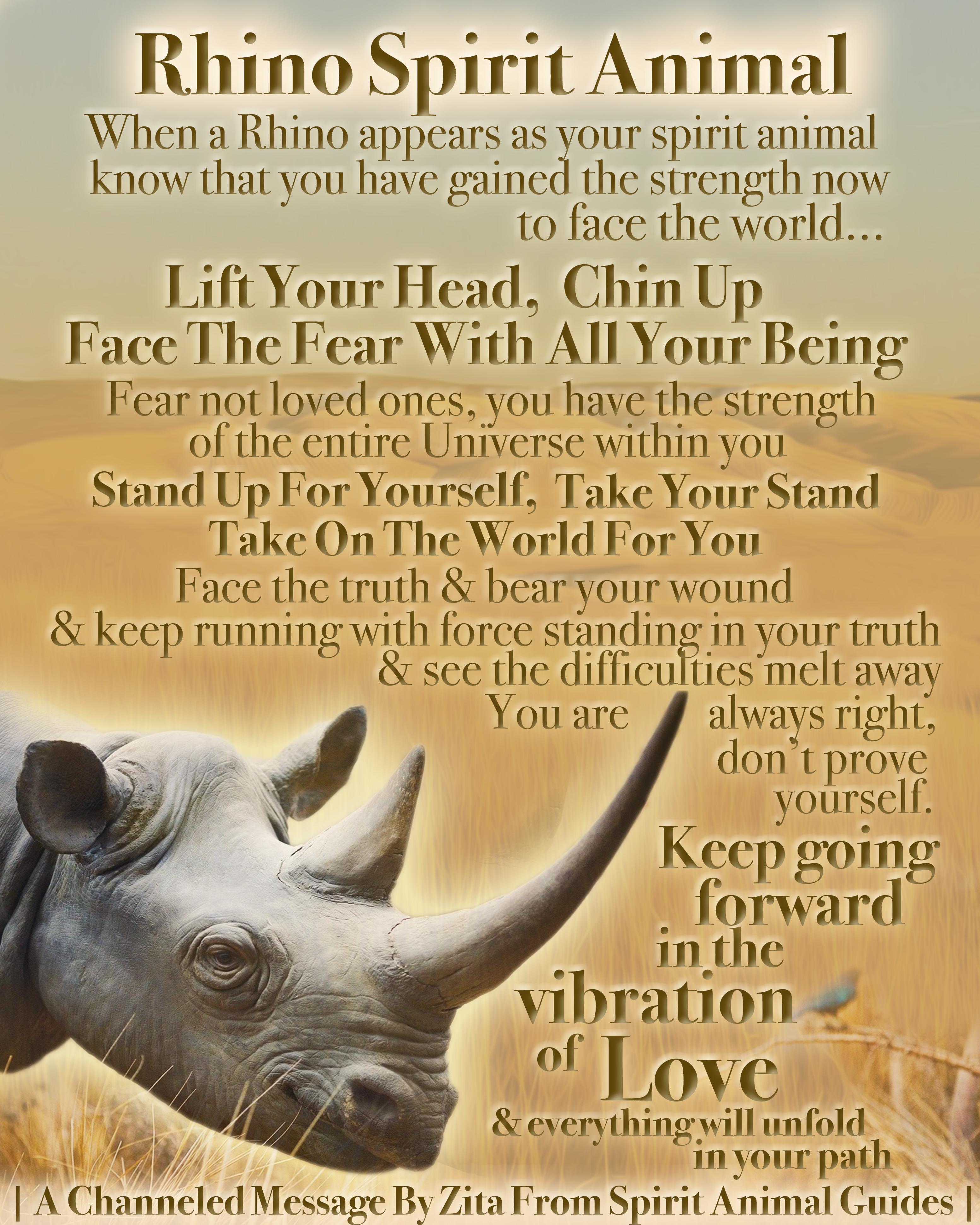 Rhino Spirit Animal In 2020 Spirit Animal Spirit Animal Meaning Animal Spirit Guides