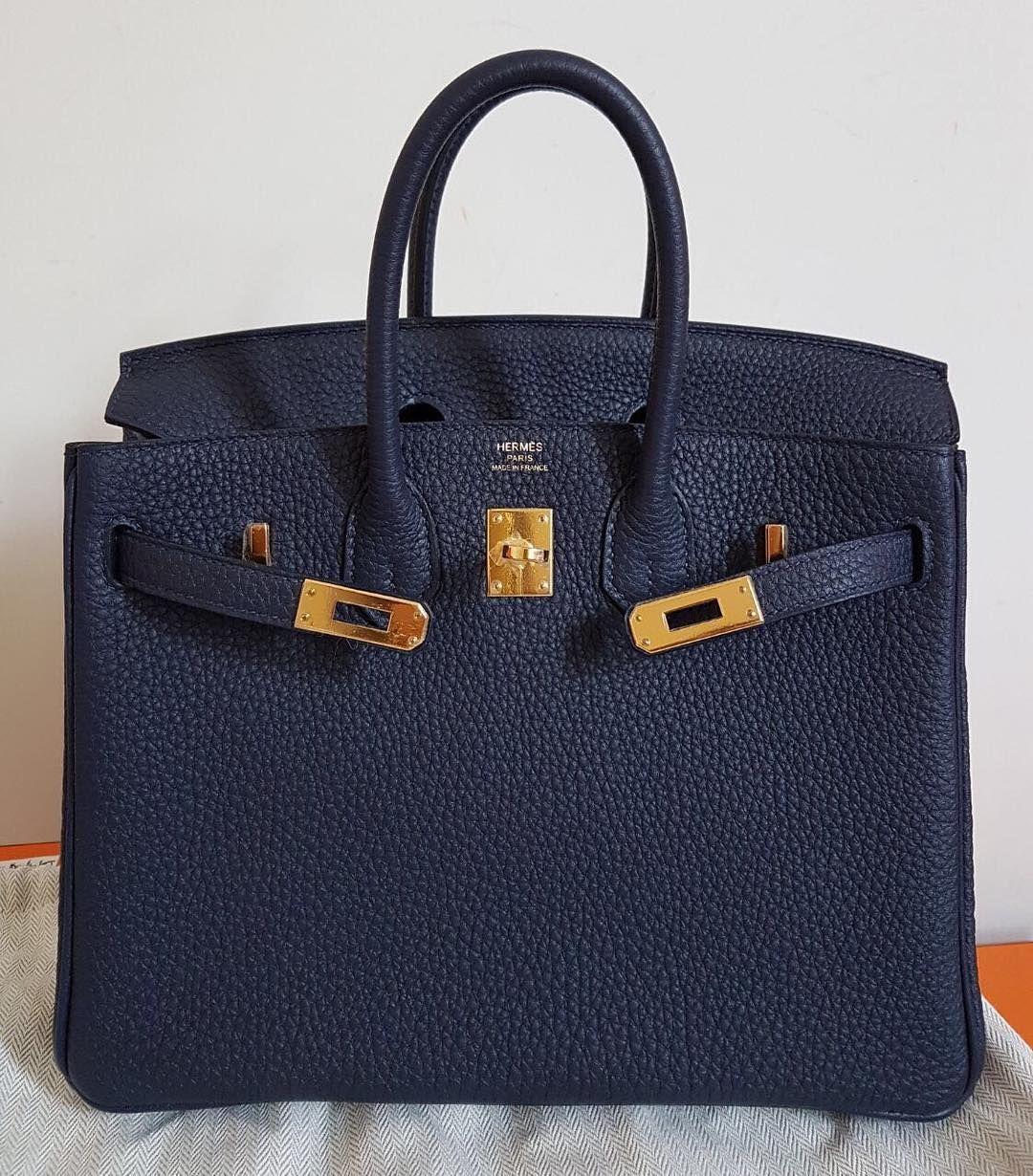 Hermes Birkin25 Blue Nuit Togo Ghw A  ee3d1c78e68f0