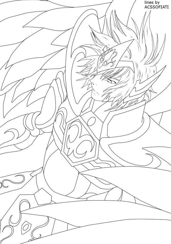 Ayoros coloriage les chevaliers du zodiaque pinterest - Dessin chevalier du zodiaque a imprimer ...