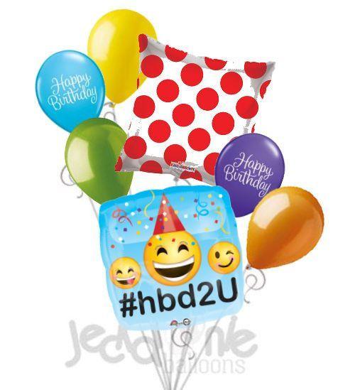 Emoji Hbd2u Happy Birthday Balloon Bouquet