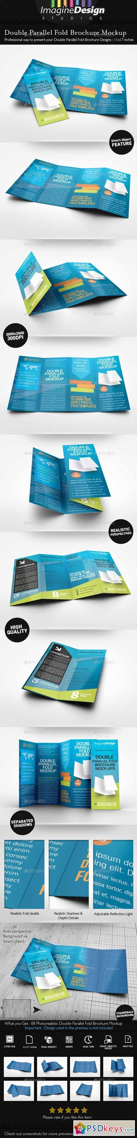 Double Parallel Fold Brochure Mockup 9942412 | dev | Pinterest ...