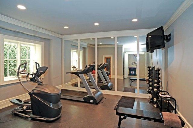 Gym Room At Home Decor, Home Gym Mirror