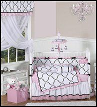Pink, Black and White Princess collection offers adorable designs that make your precious little one's room absolutely perfect! Your little girl can rest peacefully in the gorgeous atmosphere that you will create with this collection.