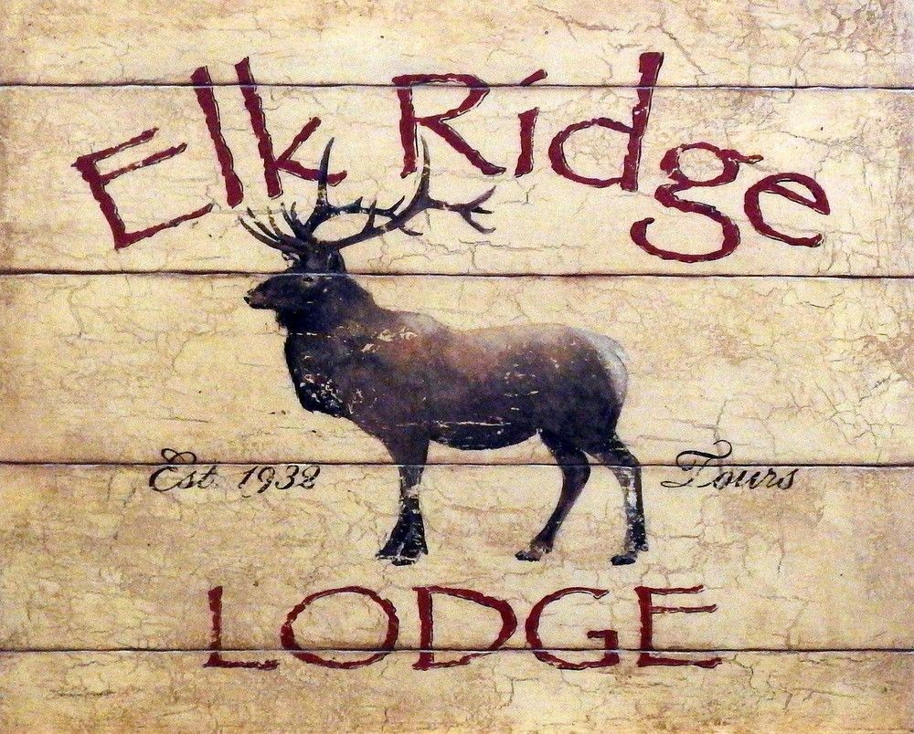 LODGE ART PRINT Elk Ridge Stephanie Marrott