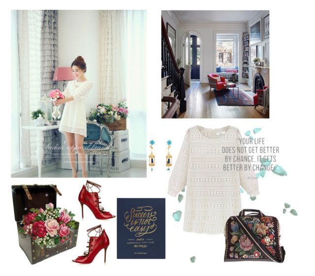 """""""Success Is Not Easy"""" by lolly-p ❤ liked on Polyvore featuring CHICLINE, Of Rare Origin, Mellow World and Malone Souliers"""
