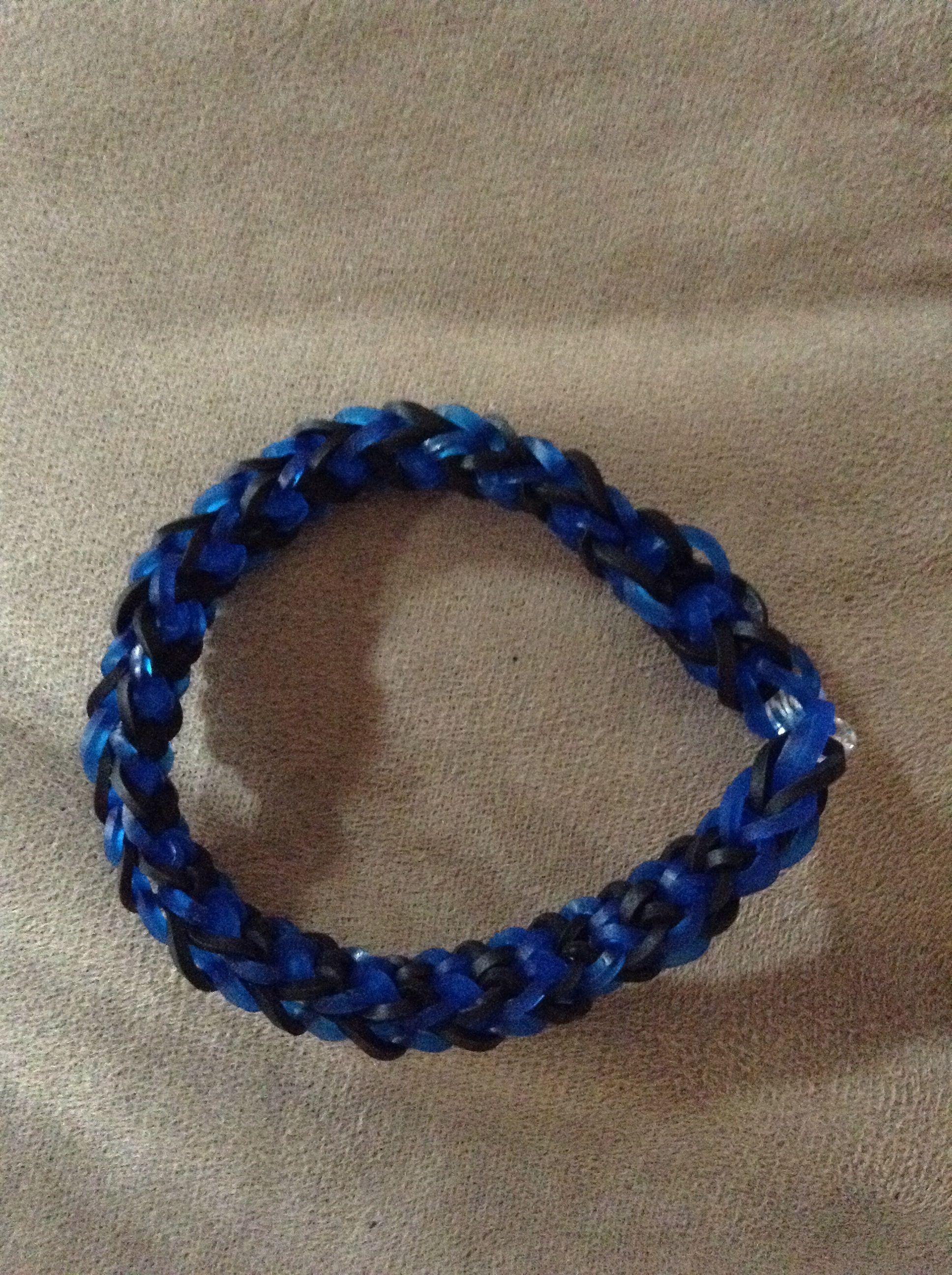 inverted fishtail rainbow loom bracelet looming