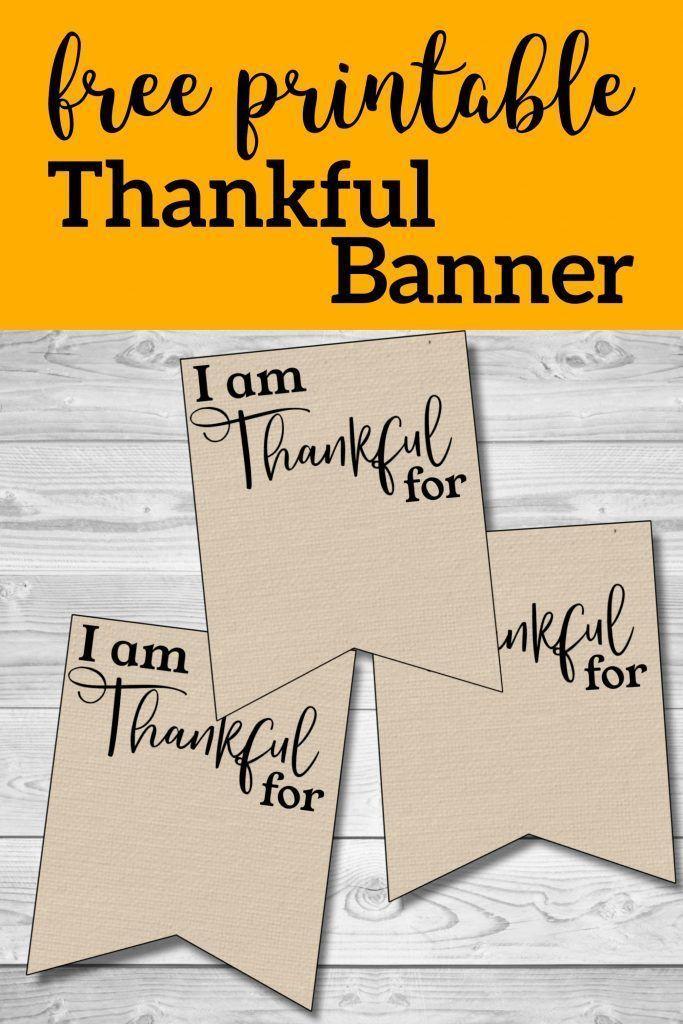 Ich bin dankbar für druckbare Banner Kostenlos druckbare Erntedankfest Familie  Ich bin dankbar für druckbare Banner Kostenlos druckbare Erntedankfest Familie